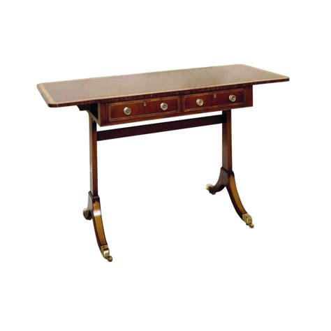 Mahogany Sofa Table by Mahogany Sofa Table With Satinwood Crossbanding