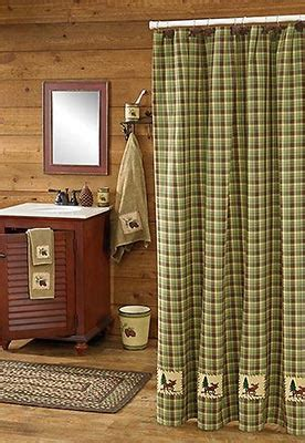 log cabin shower curtain moose shower curtain shop everything log homes