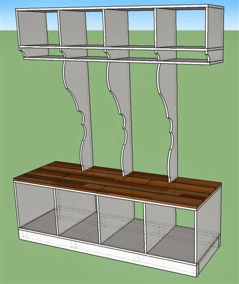 how to build a mudroom bench with cubbies remodelaholic diy entryway mudroom with cubbies for