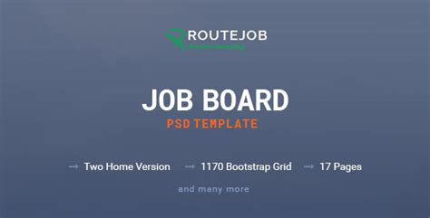 themeforest job board routejob job board psd template by enroutedigitallab