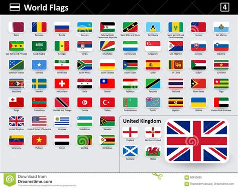 flags of the world order flag icons of the world with names in alphabetical order