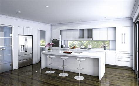kitchen white island modern decobizz com 15 trendy white kitchen designs you should see right now