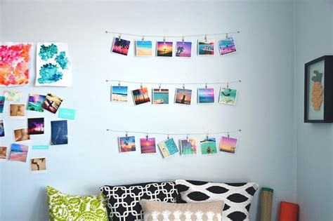 Bedroom Color Idea diy instagram hanging wall art pura vida bracelets