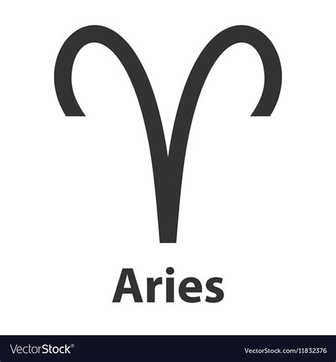 aries logo aries ram zodiac sign icon royalty free vector image