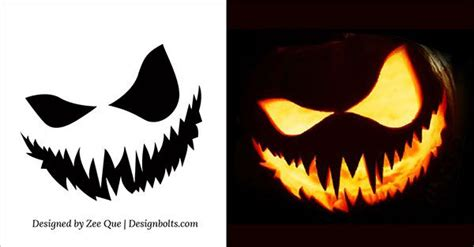 Scary Pumpkin Template by 5 Amazing Pumpkin Carving Ideas Scary Pumpkins