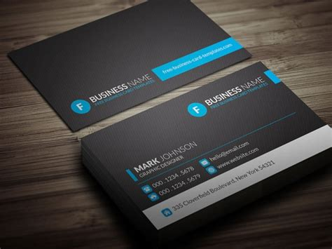 contemporary business card template modern blue corporate business card template 187 free