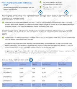 Experian Credit Report Sample Sample Credit Report Experian