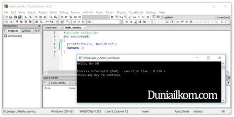 computer coding 13 penulisan kode pemrograman komputer struktur dasar penulisan kode program bahasa c duniailkom