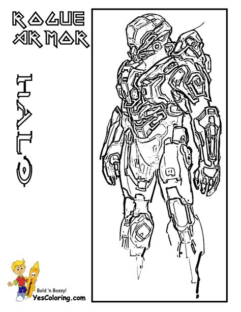 Halo 4 Coloring Pages by Soldiers Halo Colouring Pages