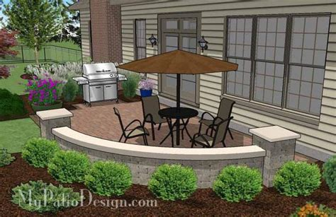 beautiful Small Backyard Pavers Ideas #2: Small-Concrete-Paver-Patio-Design-with-Seat-Wall-4_grande.jpg?v=1452192525
