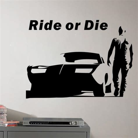 fast n furious car wallpaper the fast and furious wall stickers decorative wall decal