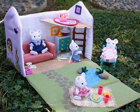 fabric doll house pin by peggy jones on doll house ideas pinterest