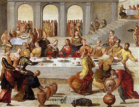 Wedding Feast At Cana Tintoretto by The Wedding Feast At Cana Tintoretto Painting