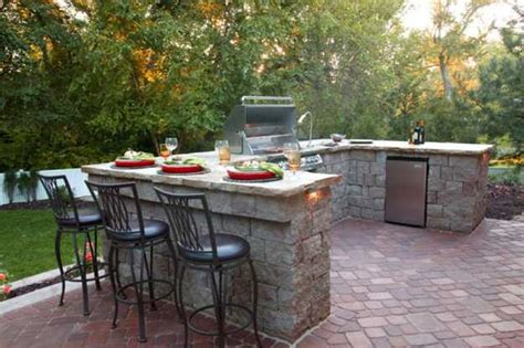 Backyard Bbq Bar Outdoor Bbq Kitchen Islands Spice Up Backyard Designs And
