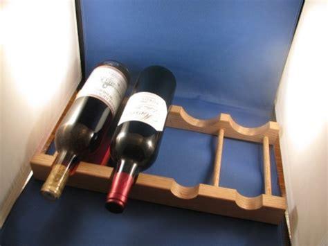 Fridge Wine Rack Shelf by Refrigerator Shelf Wine Bottle Oak Rack Holds 4 Wine Bottles