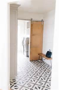 Mudroom Floor Ideas Mudroom With Black And White Tulum Concrete Tile Floor Transitional Laundry Room Benjamin