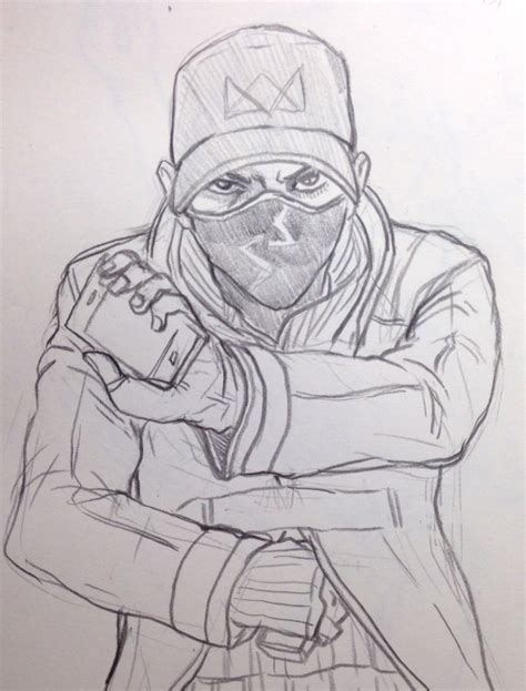watch dogs coloring page watch dogs aiden pearce by jazzjack kht on deviantart