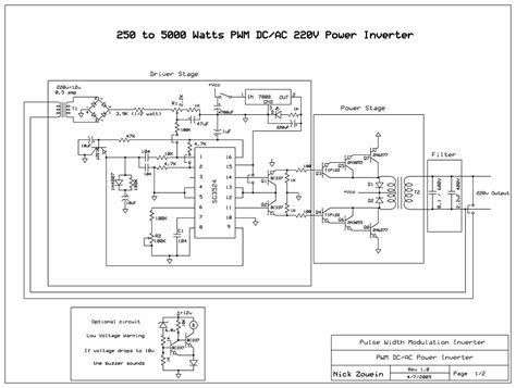 inverter 5000 watt pwm circuit wiring diagrams