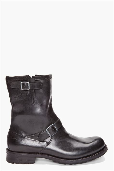 in rigger boots g patton rigger boots in black for lyst