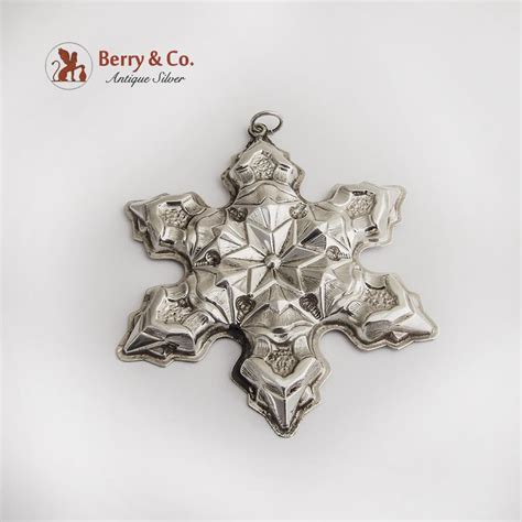 gorham snowflake christmas ornament sterling silver 1975