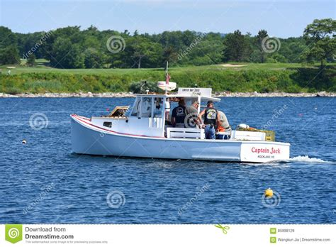boat building rockland maine fishing boat at rockland maine editorial stock image