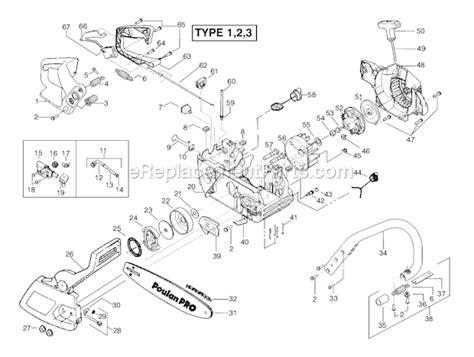 poulan pro chainsaw parts diagram poulan 260 pro parts list and diagram ereplacementparts