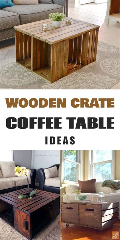 Diy Wooden Crate Coffee Table by 11 Diy Wooden Crate Coffee Table Ideas Wooden Crate