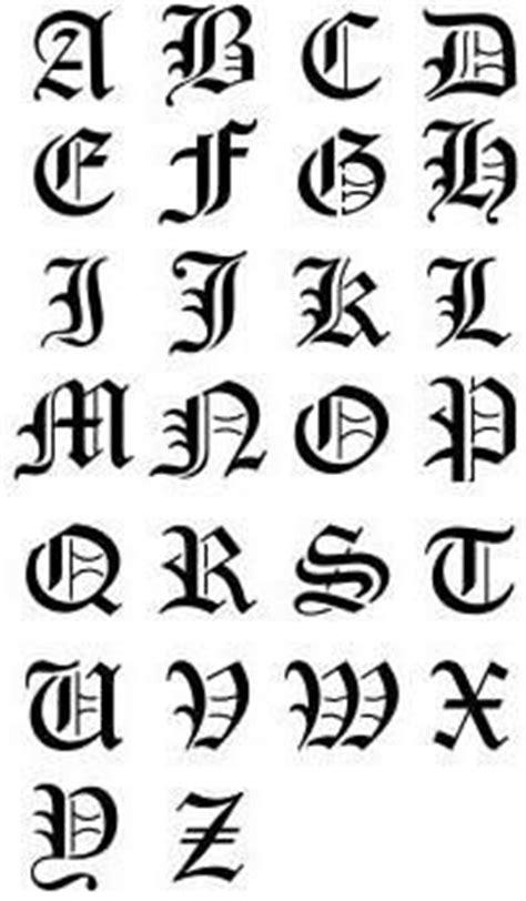 lettere gotiche alfabeto typography typography tatouage lettre alphabet