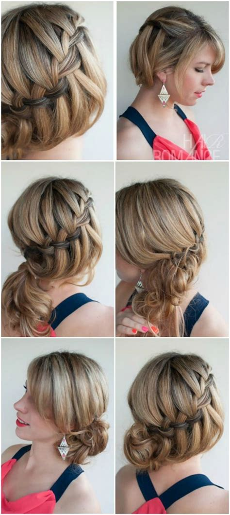 put your hair in a bun with braids 17 wonderful waterfall braid tutorials for your luscious