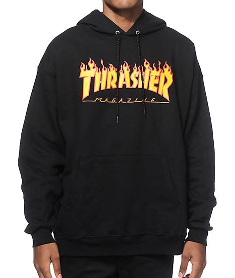 Sweater Hoodie What Is The Plan Front Logo Thrasher Logo Hoodie Zumiez