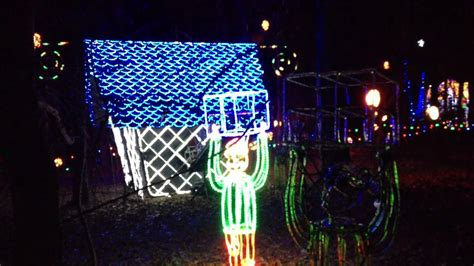 holiday lights at garvan woodland gardens in hot springs
