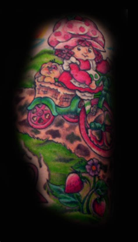 strawberry shortcake tattoo strawberry shortcake on strawberry