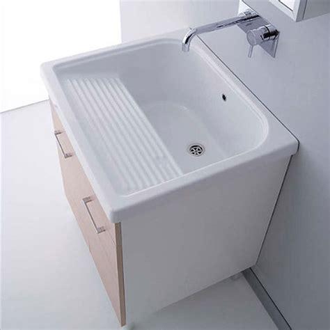 lavelli lavanderia lavatoi in ceramica vasca lavapanni con mobile rodano 75x65