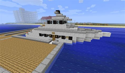 big boat in minecraft yacht minecraft project