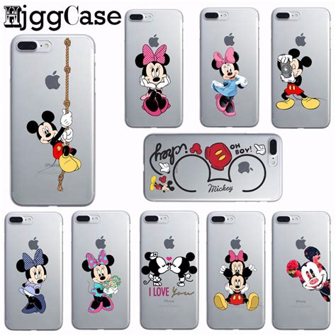 Casecassingcasing For Iphone 6 6s Plus Soft Minnie mickey minnie print for iphone 6 6s plus 5 5s se 7 7 plus transparent soft silicone