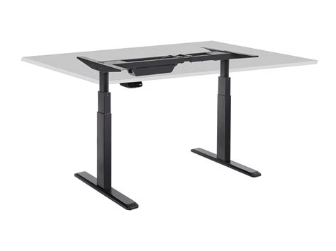 sit stand dual motor height adjustable desk frame