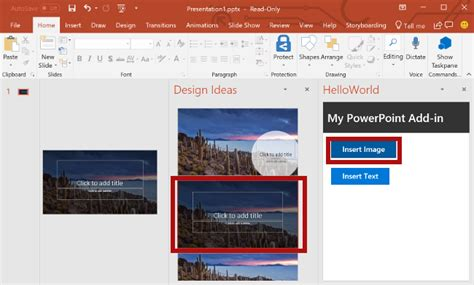 javascript tutorial powerpoint insert text into a powerpoint slide using the office