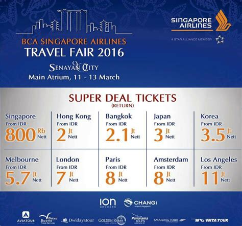 bca singapore airlines singapore airlines bca travel fair best fares and 3x