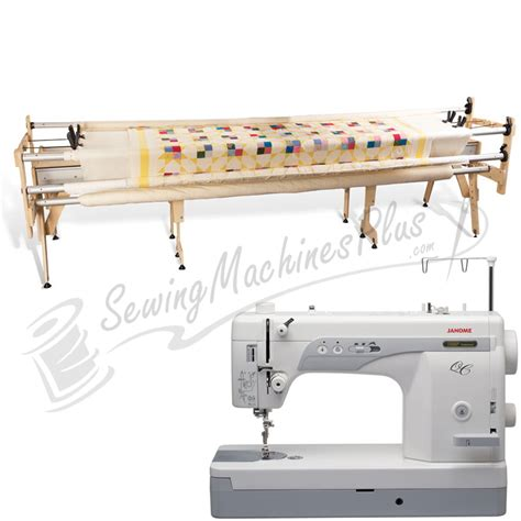 janome 1600p qc sewing machine w grace king quilting frame