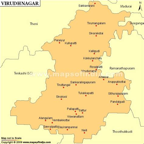 tsmil mp virudhunagar parliamentary constituency map election