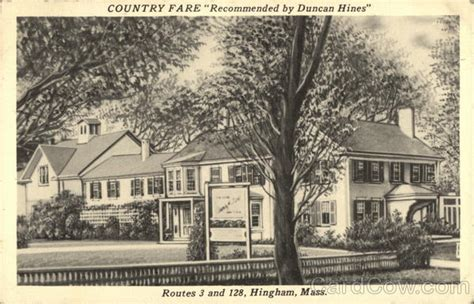 Hingham Post Office by Country Fare Restaurant Hingham Ma Postcard