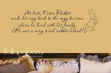beatrix potter wall stickers rabbit wall decal nursery wall decal by