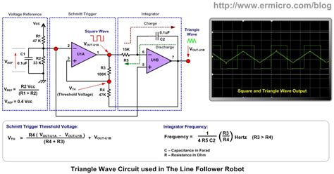 integrator circuit using lm324 electronic engineering project for technical study the lm324 op line follower robot