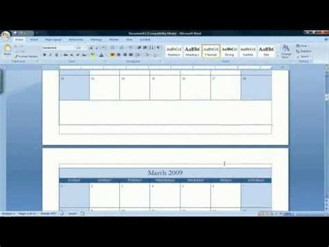 how to make a calendar in word 2007 how to make a calendar in microsoft word 2007