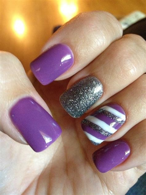 purple pattern nails image gallery purple nails