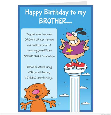 happy birthday brother cards printable happy birthday to my brother messages quotes