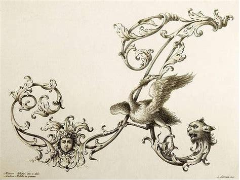 iniziali lettere decorative alphabet et lettrine des papillons