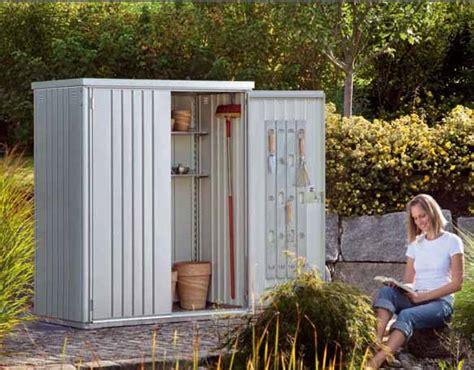 biohort armario de jardin metalico