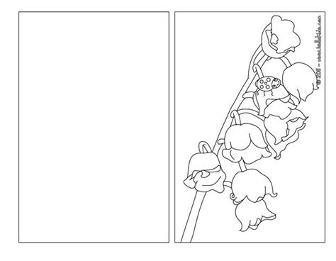 Lily Of The Valley Coloring Pages Hellokids Com Coloring Pages Cards