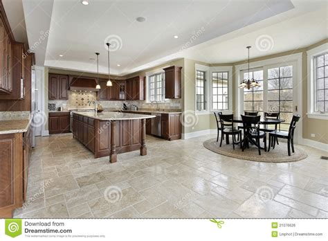 eating area large kitchen with eating area royalty free stock image